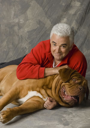 John O'Hurley with Dogue de Bordeaux
